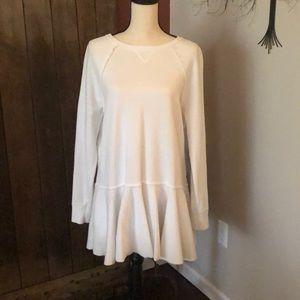 FREE PEOPLE white fleece mini dress